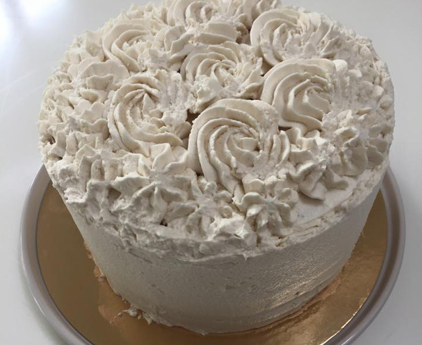 rainbow cake rose
