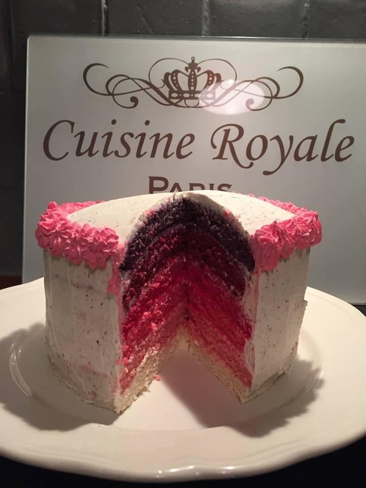 rainbow cake rose recette