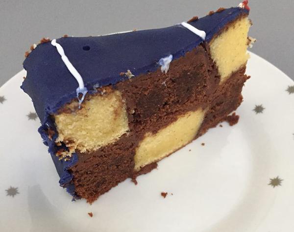 découpe gâteau damier