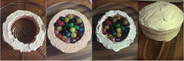 montage pinata cake