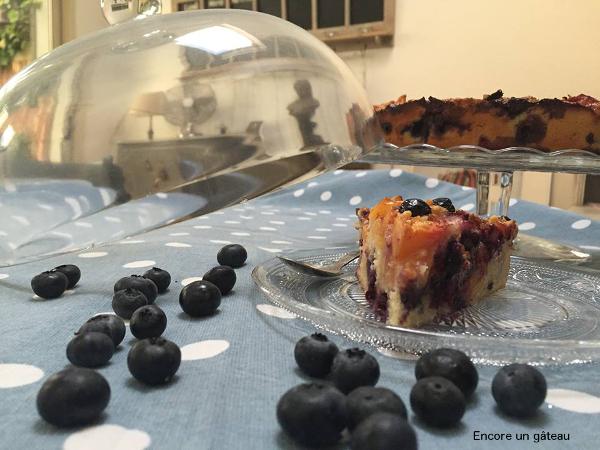 recette de moelleux aux nectarines et aux myrtilles