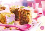 gâteau rose banane et pistache