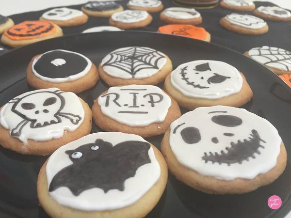 recette de biscuits décorés halloween