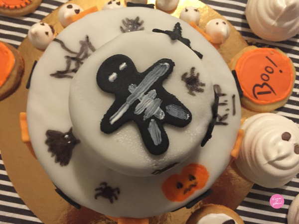 gâteau halloween qui fait peur