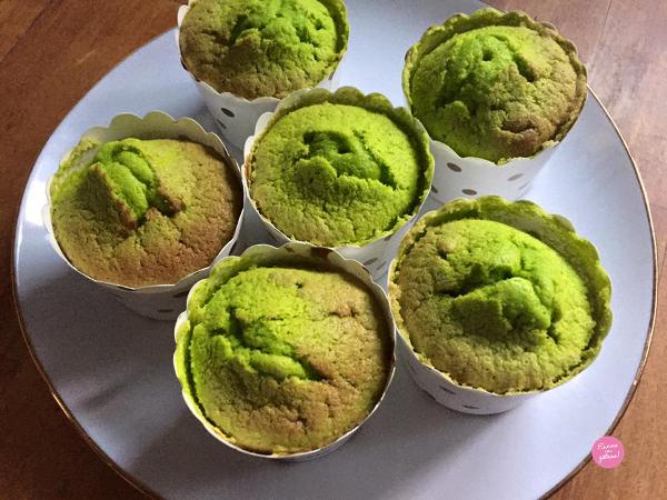 cupcakes pistache après cuisson