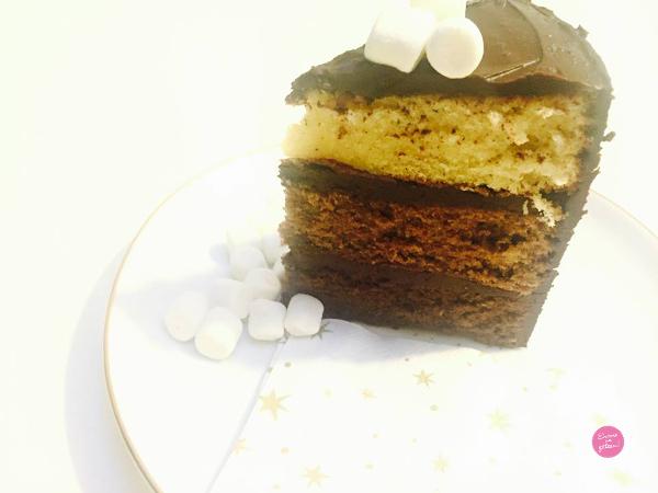 layer cake trois chocolats recette