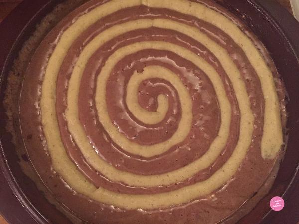 gâteau tourbillon avant cuisson