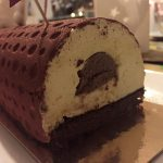 buche noel vanille insert chocolat lait