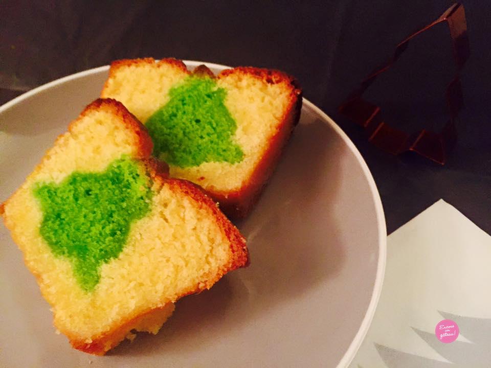 gâteau caché sapin de noël