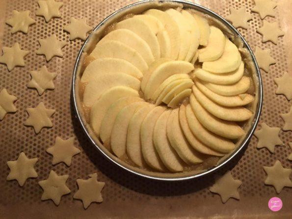 tarte aux pommes avant cuisson