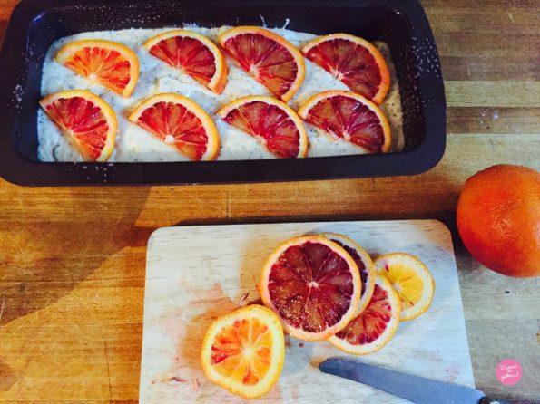 cake orange pavot avant cuisson