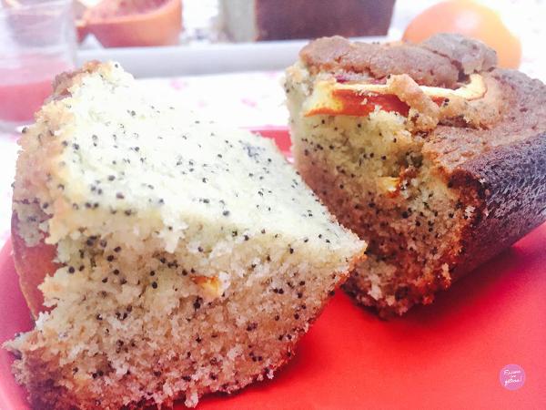 cake orange sanguine pavot
