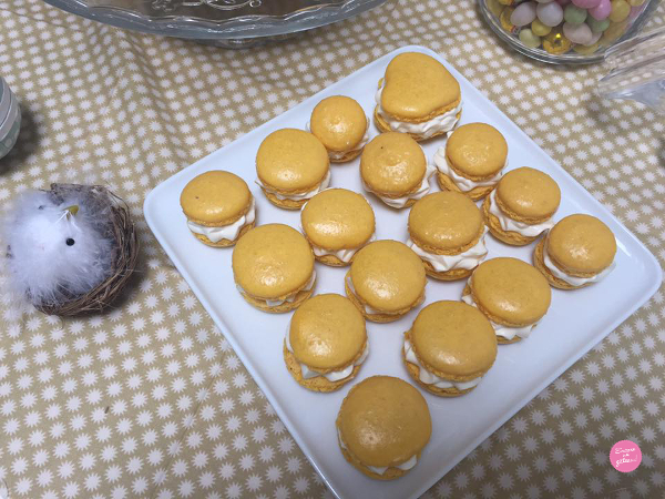 Macaron géant Fruits de la Passion