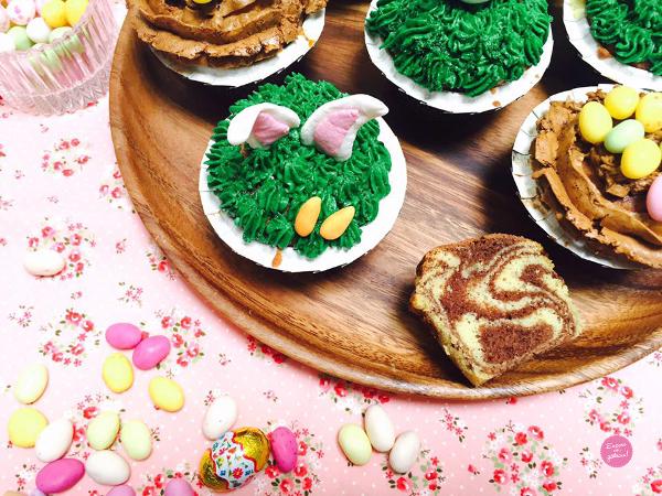zebra cupcakes paques