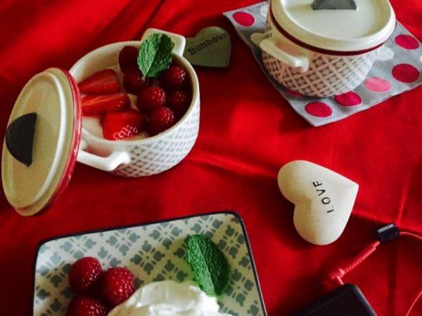 recette de Fontainebleau et fruits rouges