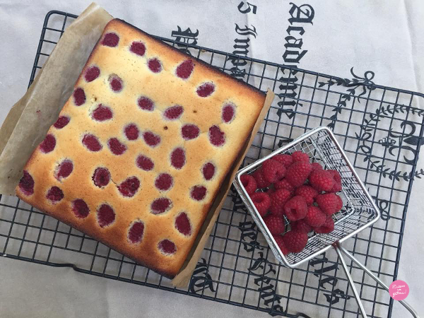 faire un financiers aux framboises