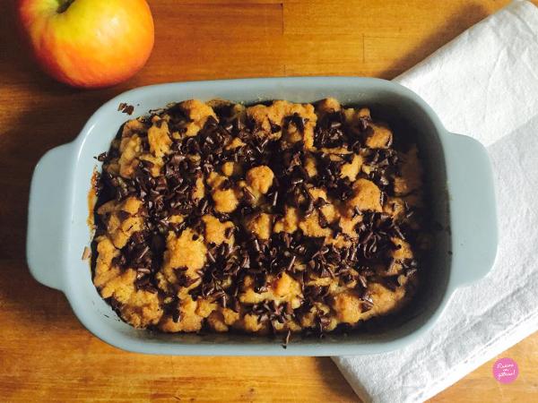Crumble pommes et chocolat