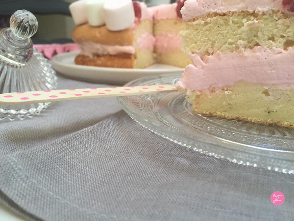 Layer cake chamallow et framboises
