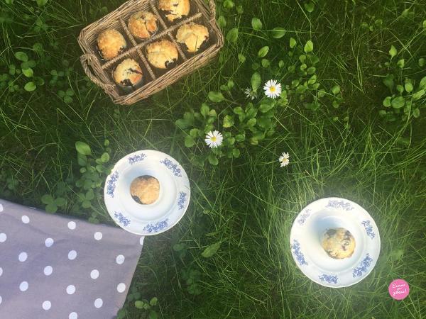 Muffins myrtilles hermé