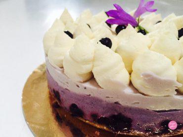 cheesecake aux myrtilles et chocolat blanc