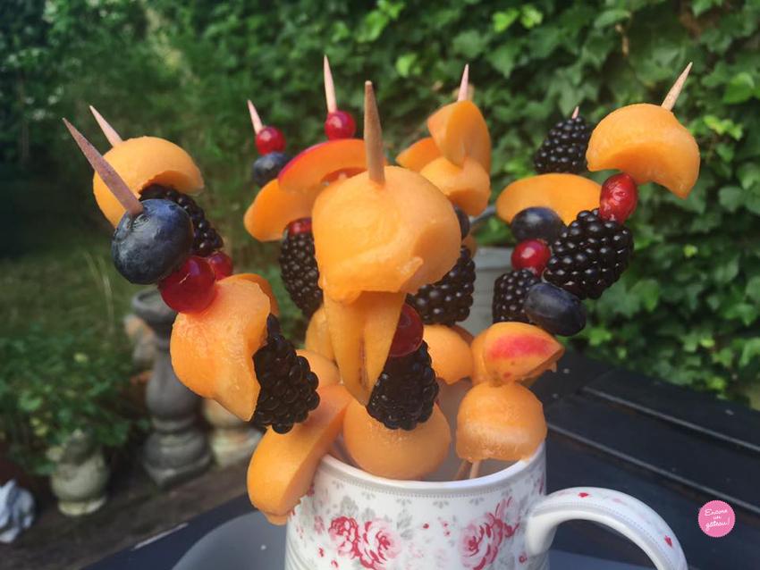 Fondue au chocolat brochette fruits