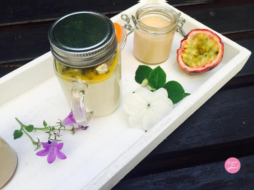 recette de panna cotta vanille passion