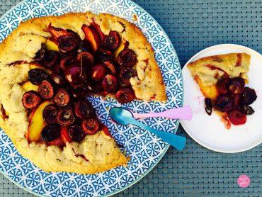 Tarte rustique nectarines cerises