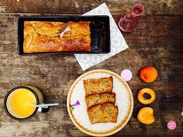 cake flocons d'avoine et abricots