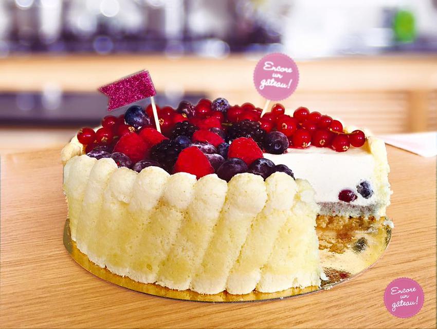 charlotte vanille et fruits rouges