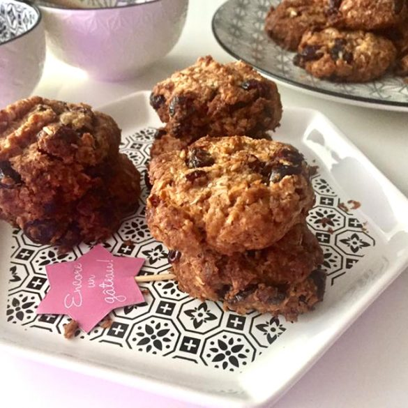 Cookies healthy noix de coco cranberries