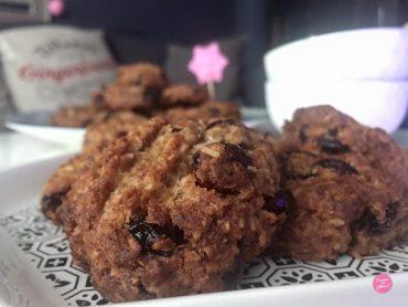 cookies healthy noix de coco cranberries
