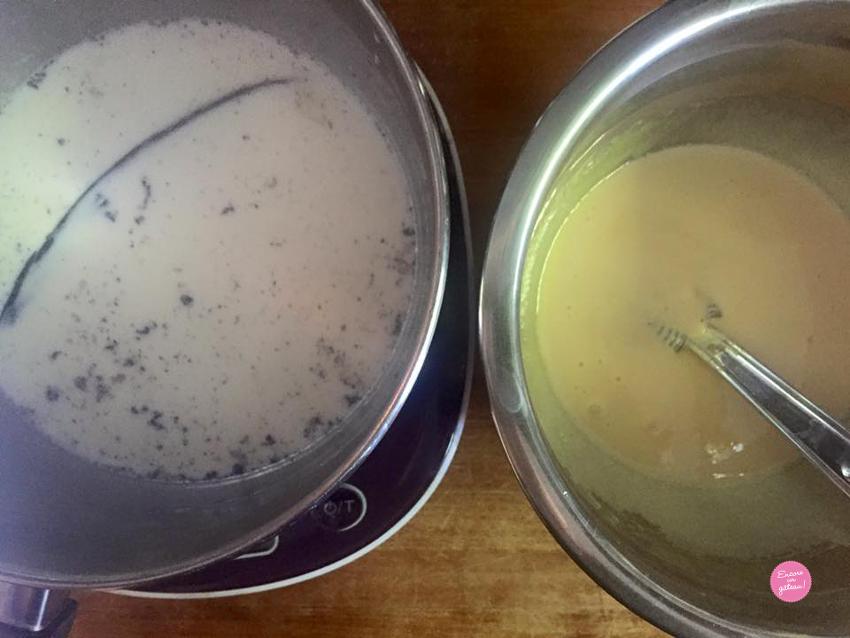 Mini bavarois vanille fruits rouges - Creme anglaise ...