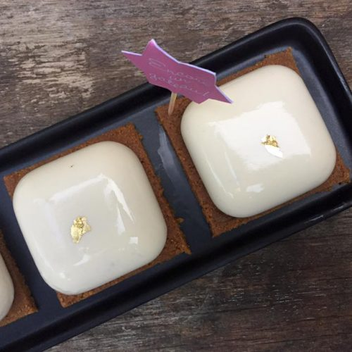 mini bavarois vanille fruits rouges