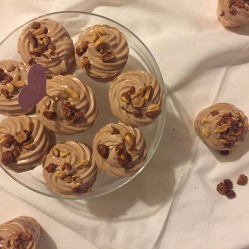 cupcakes gianduja cacahuetes