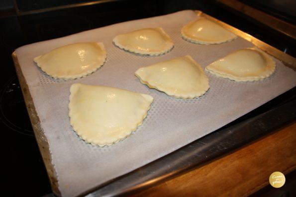 chaussons aux pommes avant cuisson