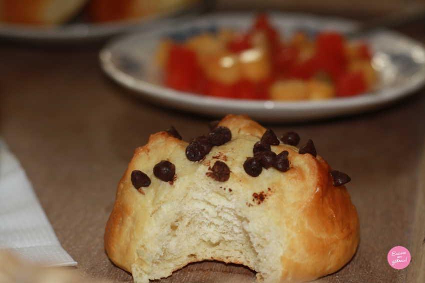 brioches aux pépites de chocolat doo wap maison