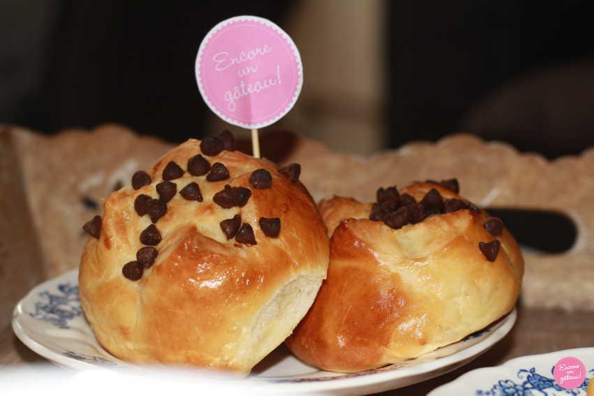 recette de brioches aux pépites de chocolat