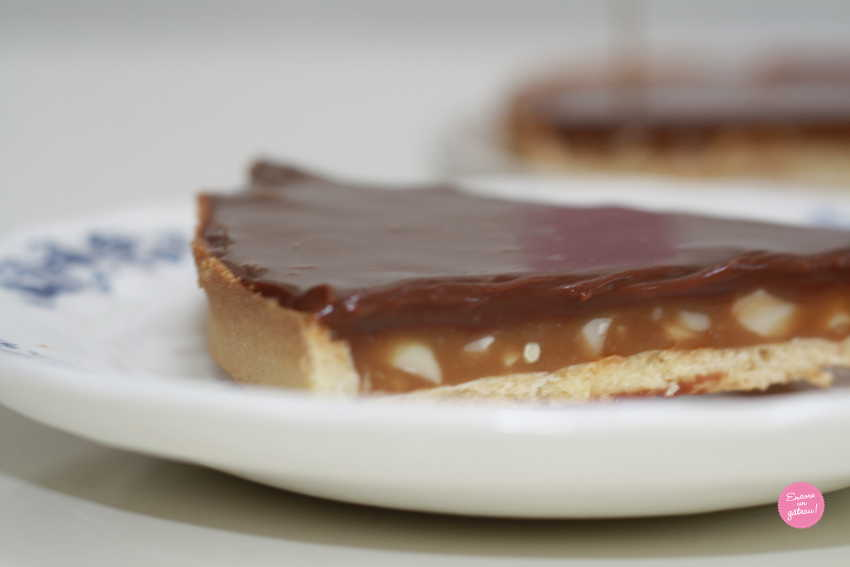 tarte façon snickers