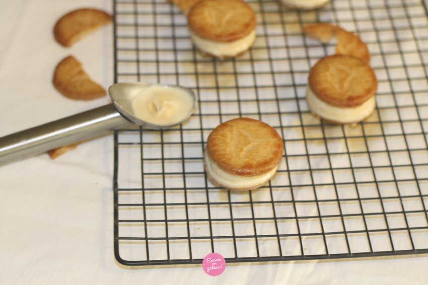 Ice cream sandwich - Glace caramel beurre salé maison