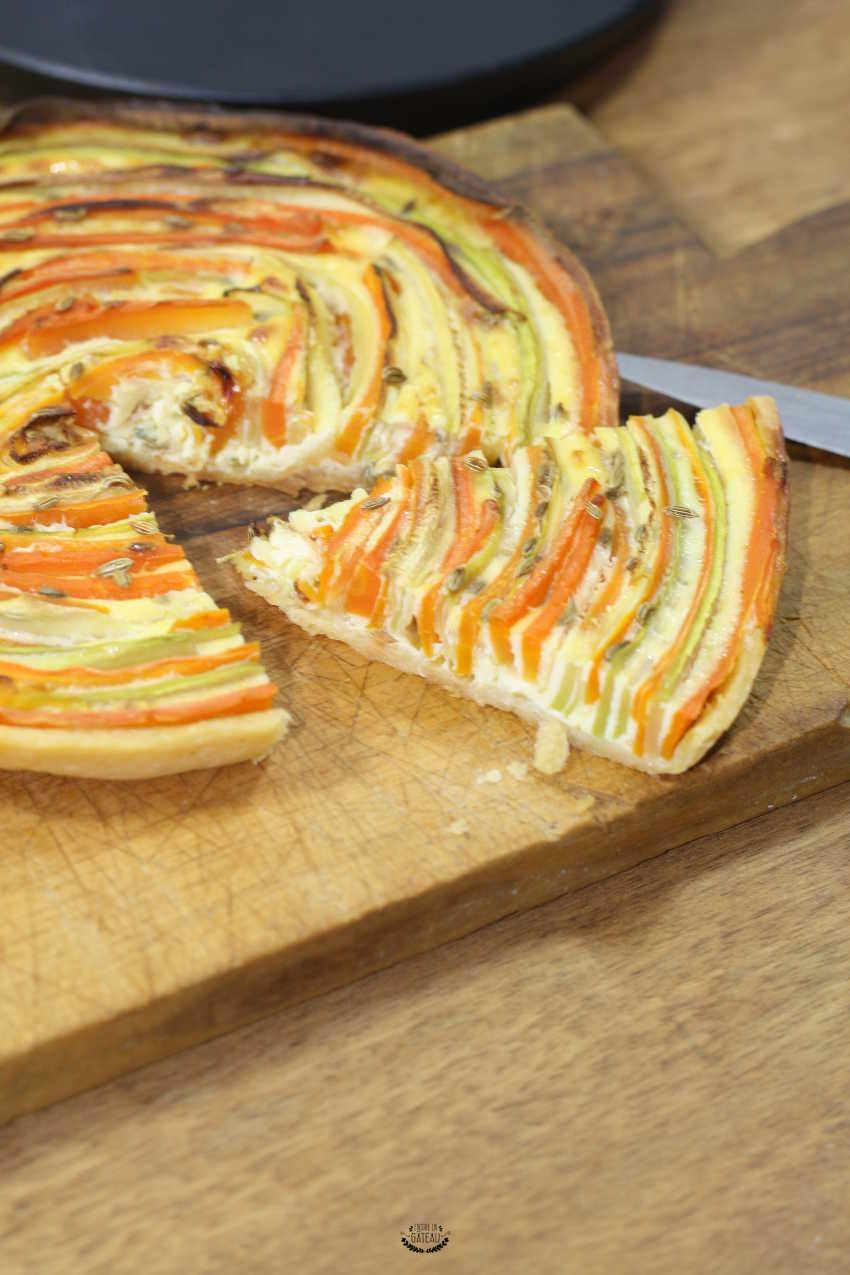 tarte spirale de légumes