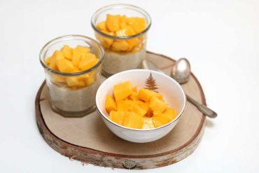 riz au lait de coco et à la mangue