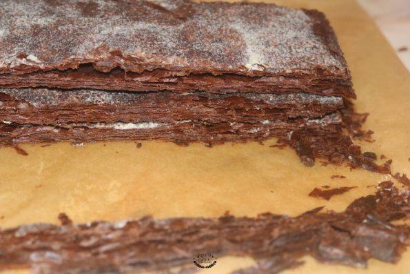 découpe feuilletage millefeuille tout chocolat