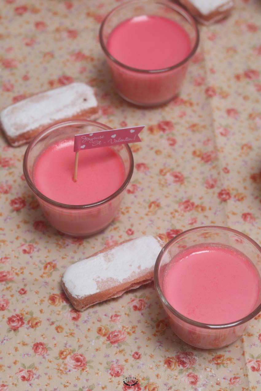 petits pots de crème à la rose Ladurée