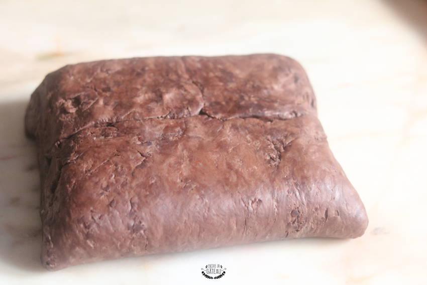 pâton feuilletage chocolat
