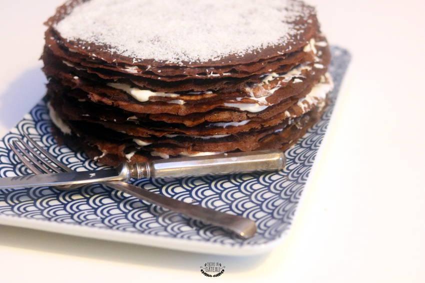 gâteau de crêpes chocolat coco