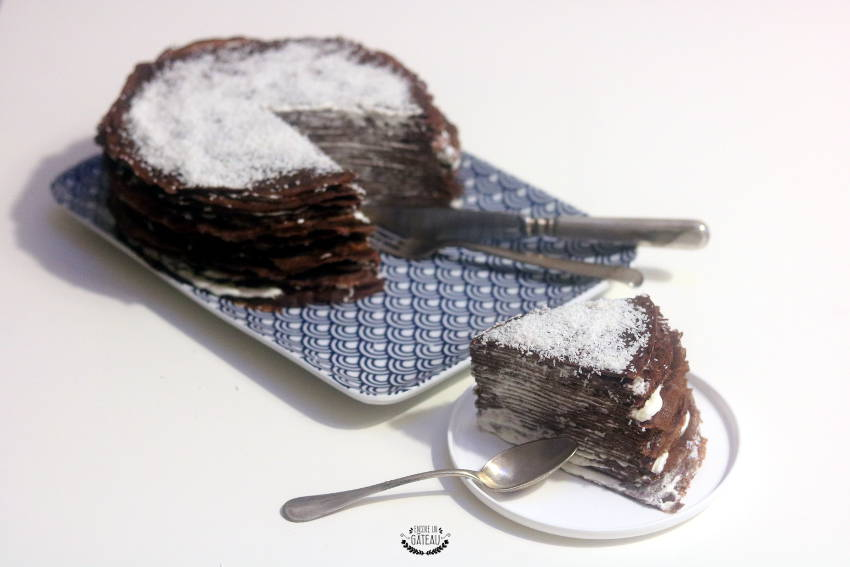 comment faire un gâteau de crêpes chocolat coco
