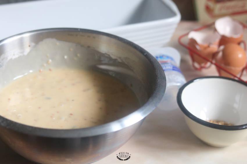 ingrédients cake aux cerises confites et granola
