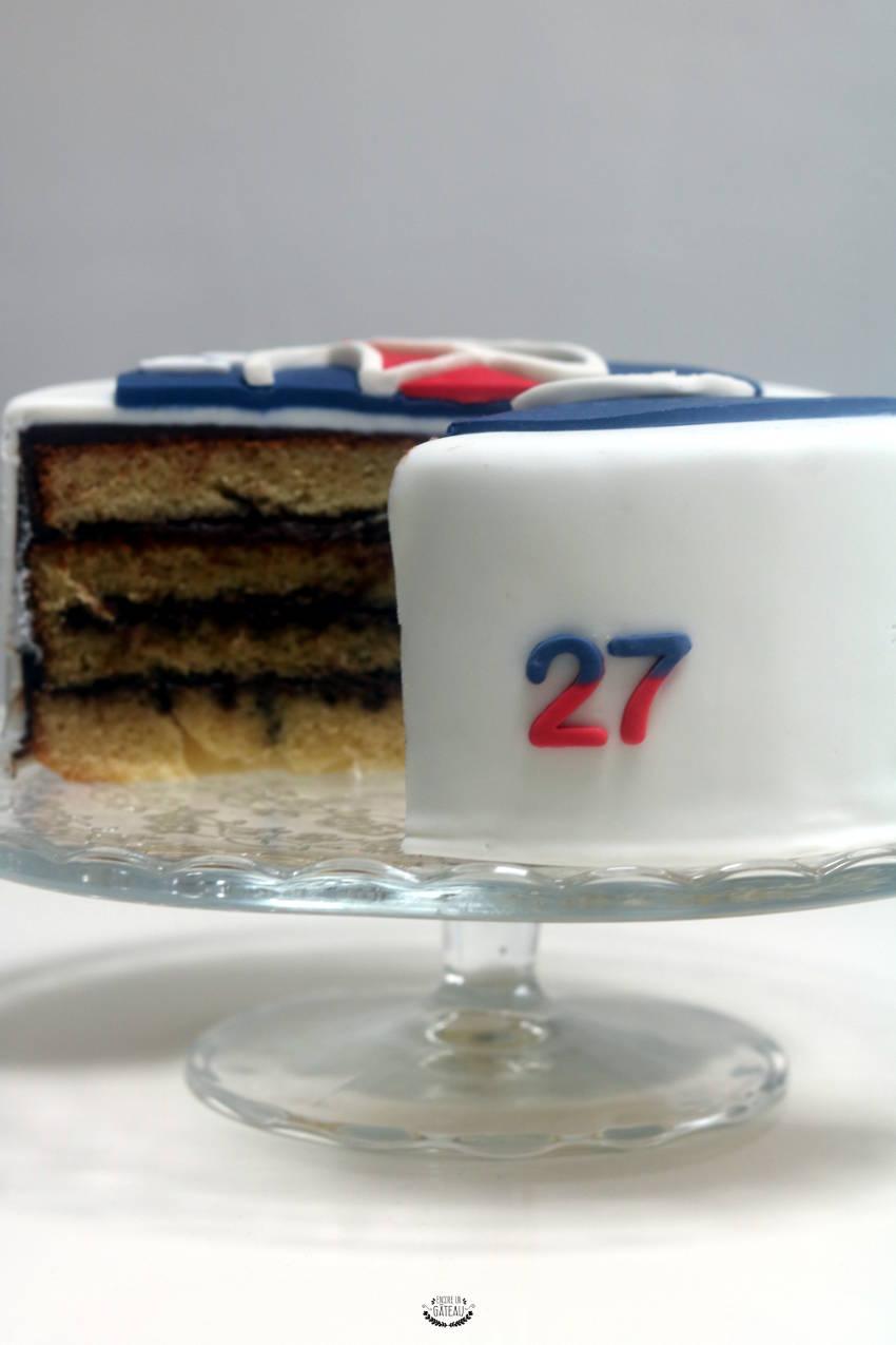 découpe gâteau psg