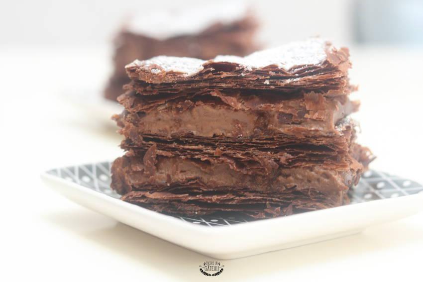 ma recette du millefeuille tout chocolat