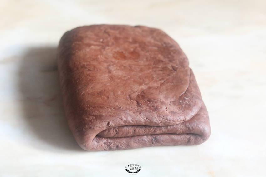 tour simple feuilletage chocolat